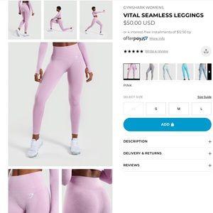 Pink Gymshark Vital Seamless set